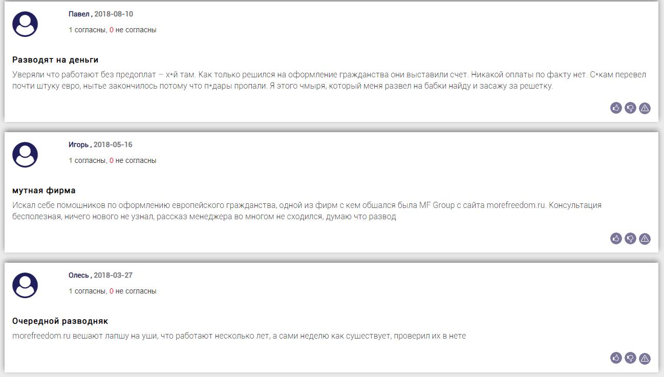 Отзывы о MF Group на bizlst.com