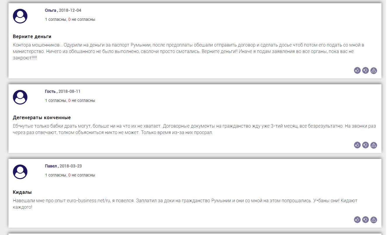 Отзывы о Euro-Business на bizlst.com